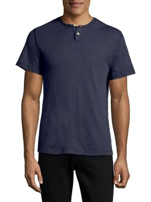 Short-Sleeve Two-Button...