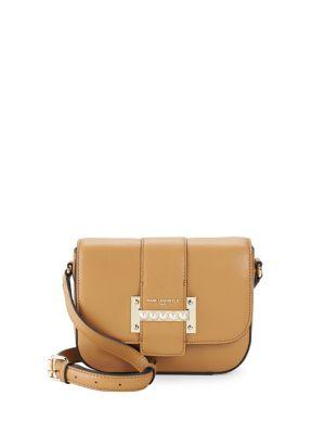 Bianca Leather Saddle Crossbody Bag 500088415801