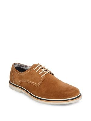 Frick Suede Lace-Up Oxfords...