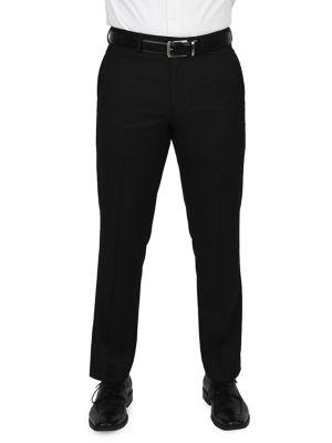 Flat-Front Dress Pants...