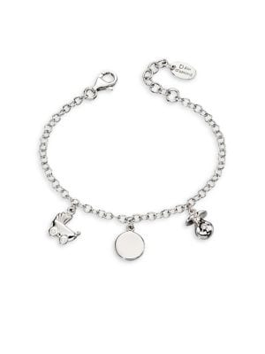 Image of .925 Sterling Silver and Diamond Charm Bracelet