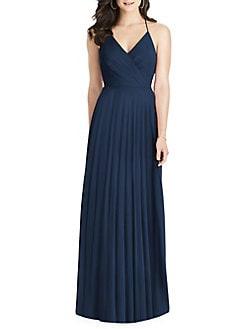 b98ac462eb Product image. QUICK VIEW. Dessy Collection. Draped Ruffled Chiffon Dress