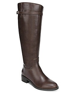 e56fae441249 Belaire Wide Calf Leather Riding Boots BROWN. QUICK VIEW. Product image