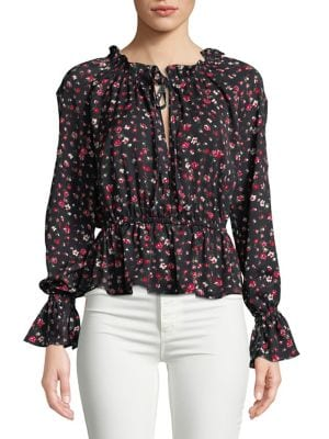 Sonic Floral Long-Sleeve...
