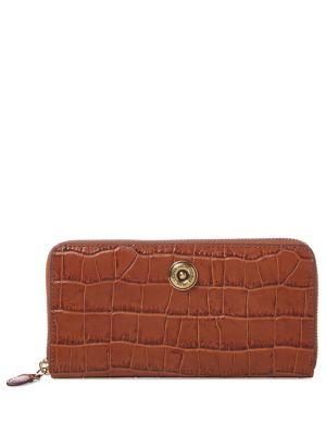 Medium Leather Crocodile-Embossed Wallet 500088447835