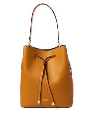 Debby Medium Leather Drawstring Bag 500088448182