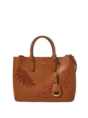 Marcy Leaf-Applique Leather...