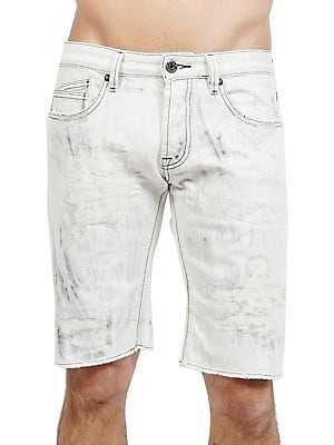 d4ab39f69 Cult Of Individuality - Rebel Distressed Cotton Shorts. Distressed shorts  tailored from pure cotton fabric.