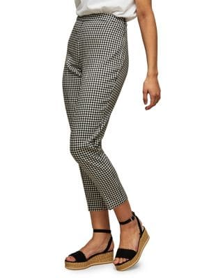 Gingham-Print Trousers 500088452986