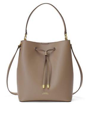 Debby Medium Leather Drawstring Bag 500088453379