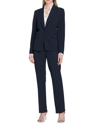 Pinstriped Pant Suit...