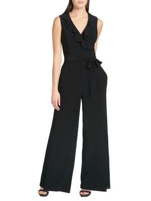 Jersey Ruffle Jump Suit 500088456320