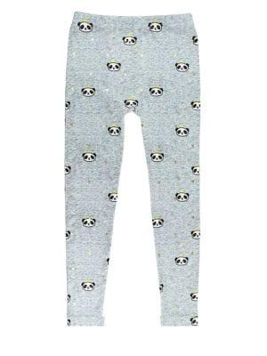 Girl's Panda-Print Leggings...