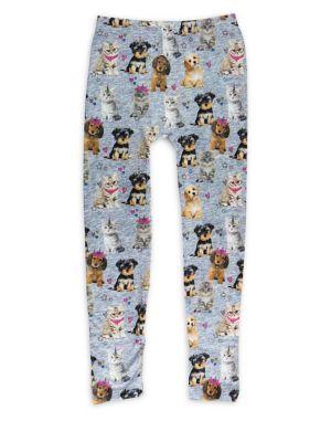 Girl's Cats & Dogs Leggings...