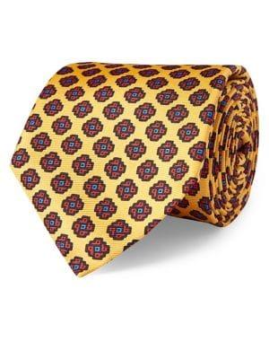 Diamond Neat Silk Tie...