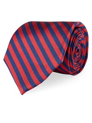Silk Striped Tie @...