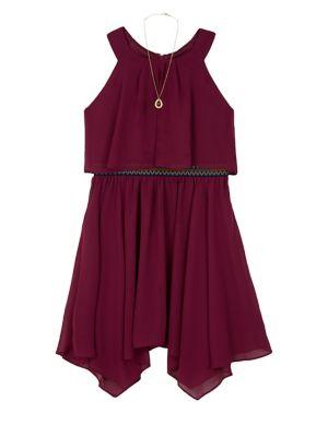 Girl's Asymmetrical Dress...