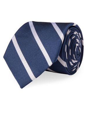 Striped Silk Repp Tie...