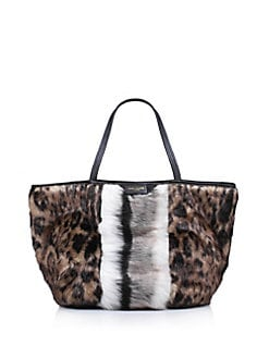 1a8fb169daa6 QUICK VIEW. Kurt Geiger London. Poppy Mixed Print Faux Fur Tote.  175.00  Now  87.50 · Kensington Faux Fur Plaid Shoulder Bag CHARCOAL