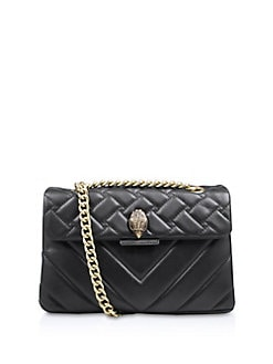 ac66dd8f9ac0 Kensington Quilted Leather Shoulder Bag BLACK. Product image