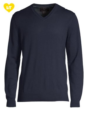 V-Neck Merino Wool Sweater...
