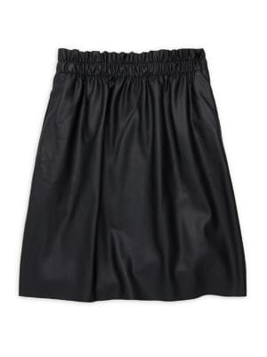 Girl's Faux Leather Skirt...