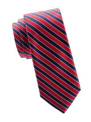 Silk Striped Slim Tie...