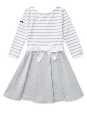 Girl's Striped Ponte...