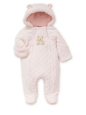 Baby Girl's Quilted Hooded...