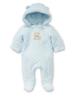Baby Boy's Quilted Hooded...