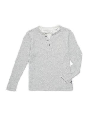 Boy's Long-Sleeve Cotton...
