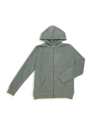 Boy's Fleece Zip-Up Hoodie...