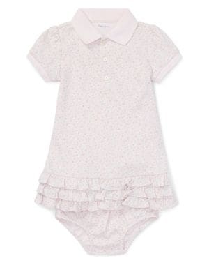 Baby Girl's Floral Printed...