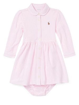 Image of Baby Girl's Striped Shirtdress and Bloomers Set