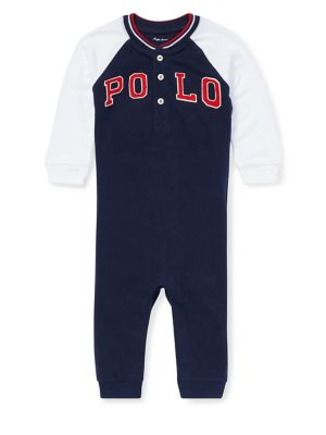 Baby Boy's Henley Coverall...