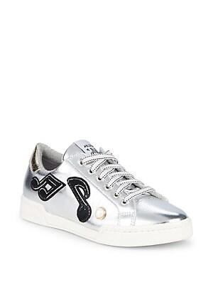 Méliné - Metallic Patched Sneakers