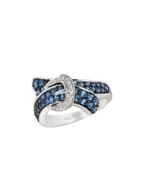 Image of Cornflower Ceylon Sapphire 14K White Gold Ring