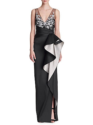 c66ac60d Marchesa Notte - Sleeveless Two-Tone Ruffle Gown - lordandtaylor.com