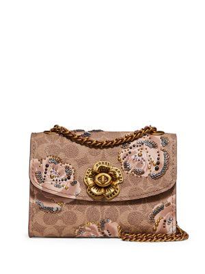 Parker 18 Embellished Signature Rose Print Shoulder Bag 500088482663
