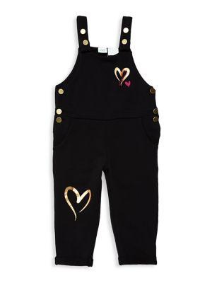 Little Girl's Heart Overalls...