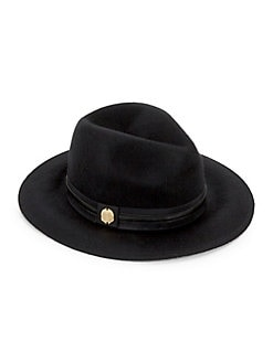 1f5a1d97522 Banded Wool Panama Hat BLACK. Product image