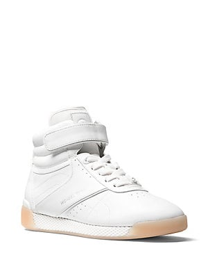 ce64d5f8ab6 MICHAEL Michael Kors - Addie Leather High-Top Sneakers ...