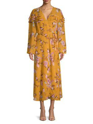 Floral Wrap Maxi Dress...