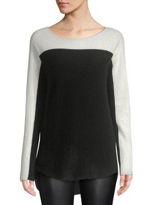 Cashmere Colorblock Sweater...