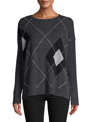 Argyle Cashmere Sweater...