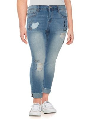 Plus Mika Best Friend Embellished Jeans 500088505602