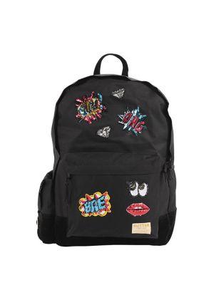 Girl's Emoji Patch Backpack...