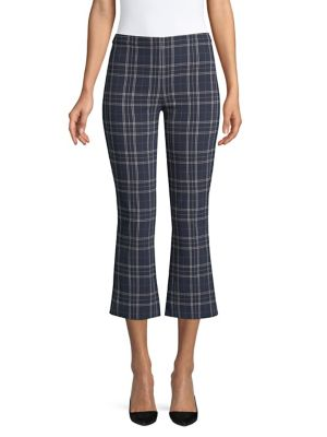 Campus Plaid Cropped Bell Pants 500088512358