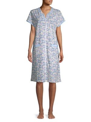 Floral-Print Nightgown...