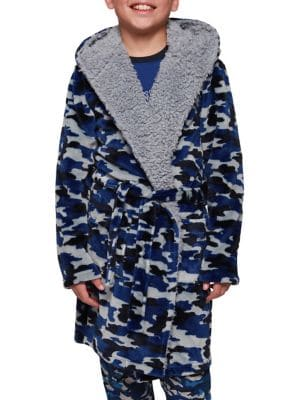 Boy's Hooded Collar Robe...